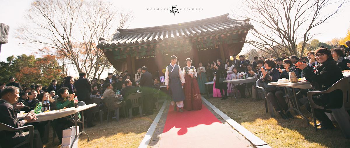 촉석루 청계서원에서 진행한 아름다운날 Wedding march