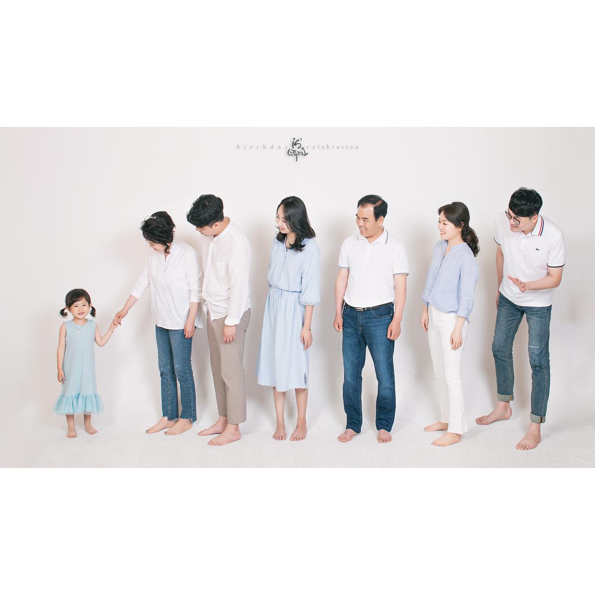 라미인드 사진과 함께한 야외 가족사진