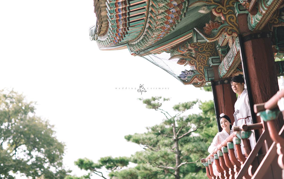 아름다운 전통 웨딩 진주 한복 웨딩 촬영